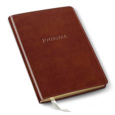 Leather Desk Grid Journal