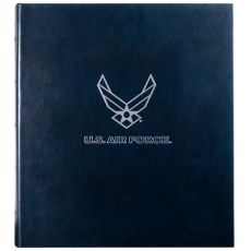 "USAF Leather Presentation Binder- 1 1/4"" With Hubbed Spine"