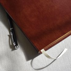 "Leather Large Journal - Ruled - 9.75"" x 7.5"""