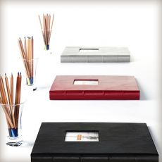 "Leather Presentation Binder - 1 1/4"" With Hubbed Spine"