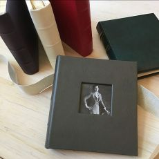 Leather Travel Photo Album with Window