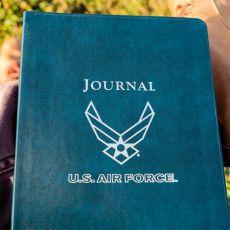 "USAF Leather Desk Journal - Ruled - 8"" x 5.5"""