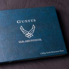USAF Leather Guest Book