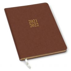 CLEARANCE - 2022 Simulated Leather Academic Planner - Cambridge Cognac