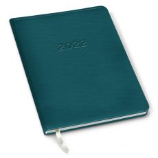 CLEARANCE - 2022 Simulated Leather Family Planner - Cambridge Rustic Turquoise
