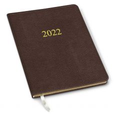 CLEARANCE - 2022 Simulated Leather Professional Planner - Leida Root Beer