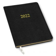 CLEARANCE - 2022 Simulated Leather Professional Planner - Ostrich Black