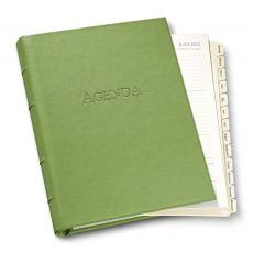 """Ring-Bound Leather Planner - 9"""" x 7"""""""