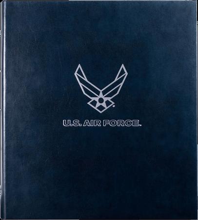 USAF Leather Presentation Binder - 3/4 With Hubbed Spine