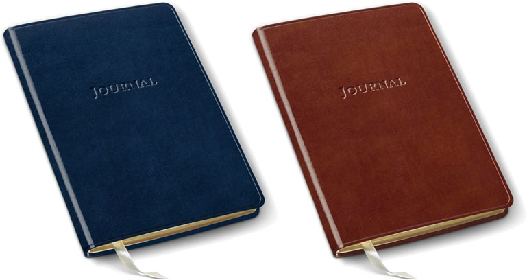leather desk grid journals