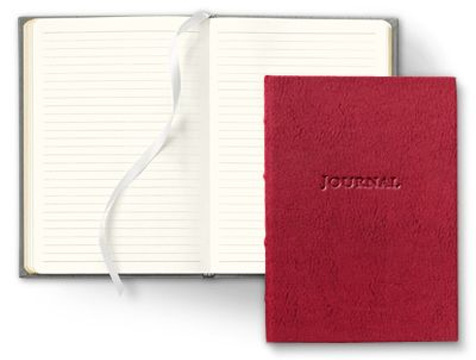 hardcover desk journal cover and interior