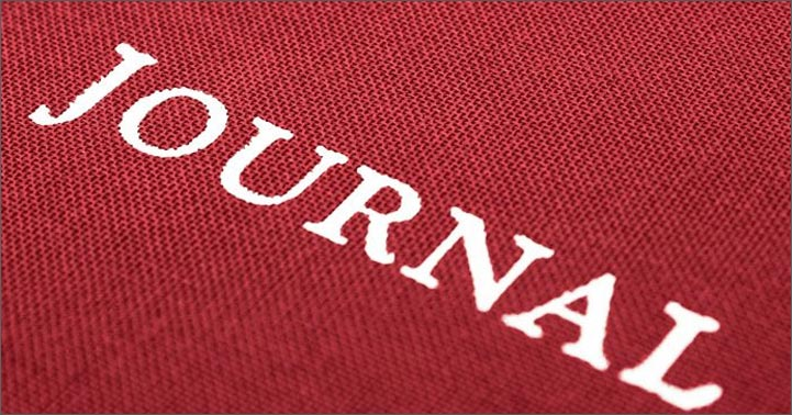 red bookcloth journal