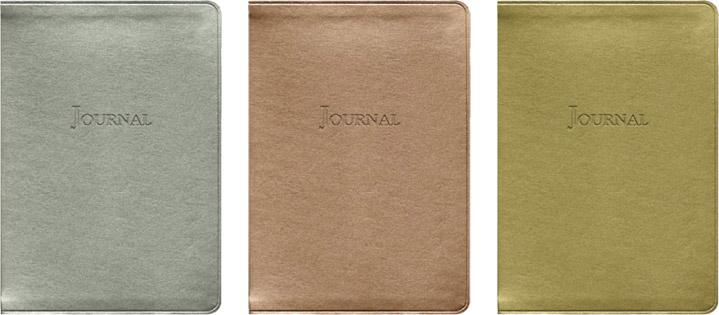 metallic desk journals