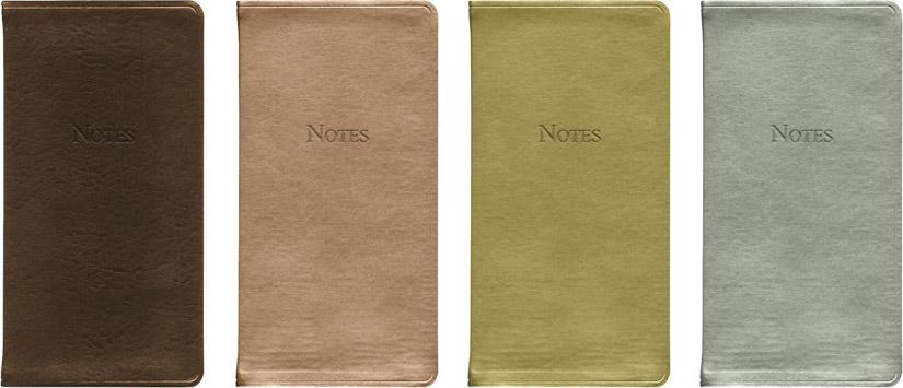 metallic pocket notes