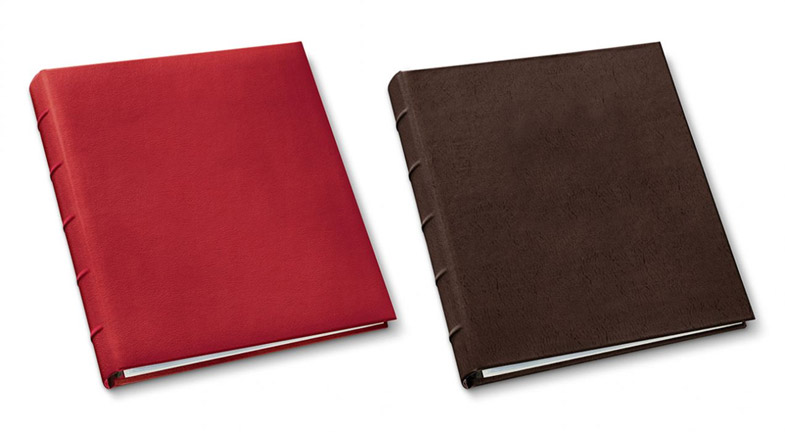presentation binders in camden red and freeport mocha