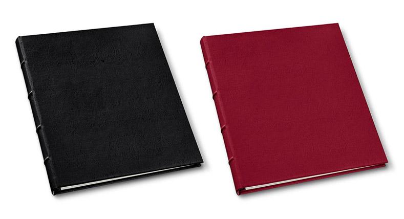 presentation binders in freeport black and camden red