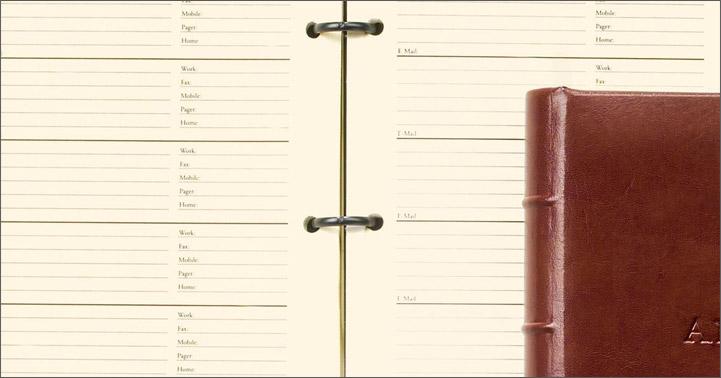 ring-bound address book