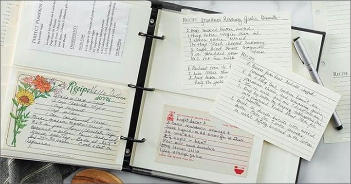ring-bound recipe organizer