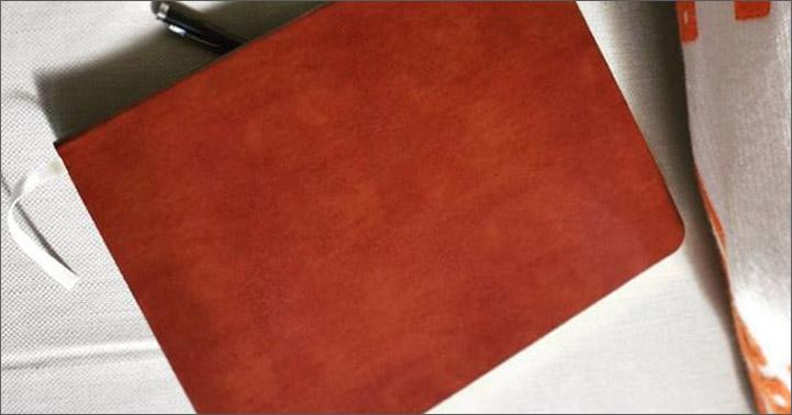 leather desk sketchbook in acadia tan