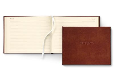 guest book cover and interior