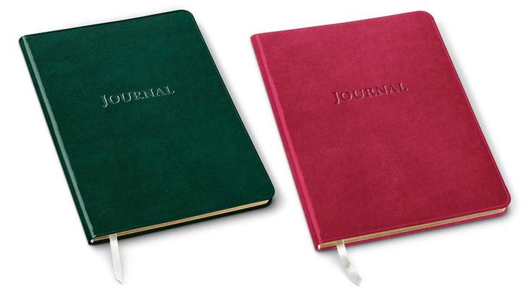 large desk journals