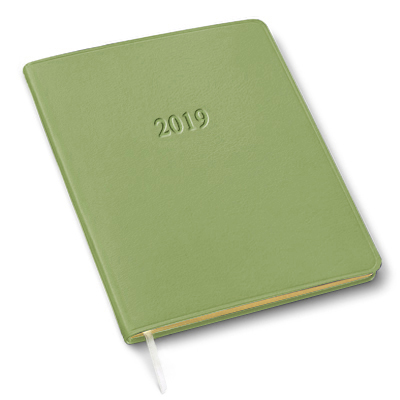 Personalized 2019 Large Monthly Planners Gallery Leather