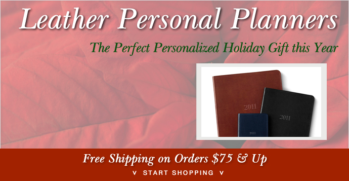 Holiday Leather Personal Planners Gallery Leather Bar