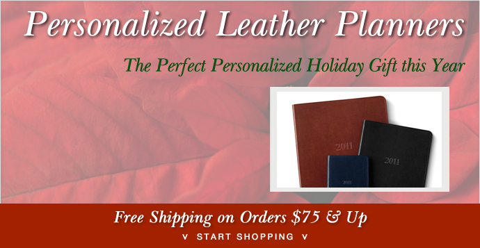 Holiday Personalized Leather Planners Gallery Leather