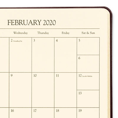 084c15687e5 2020 Personalized Leather Weekly Desk Planners | Gallery Leather