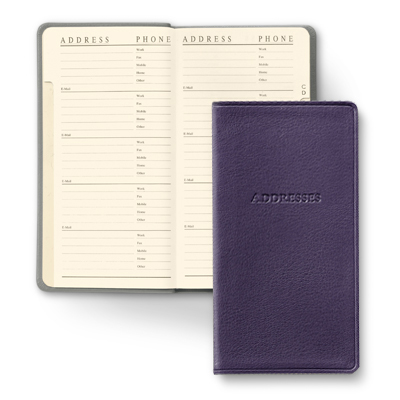 Pocket Sized Leather Address Book Gallery Leather