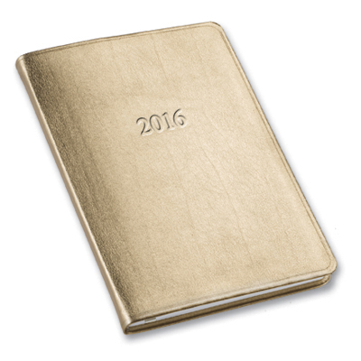 2016 Metallic Desk Weekly Planner Gallery Leather Bar