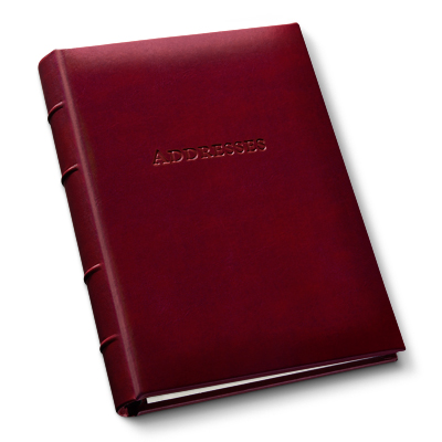 Personalized Leather Address Books Gallery Leather Maine