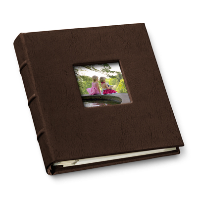 leather travel photo album with window gallery leather. Black Bedroom Furniture Sets. Home Design Ideas